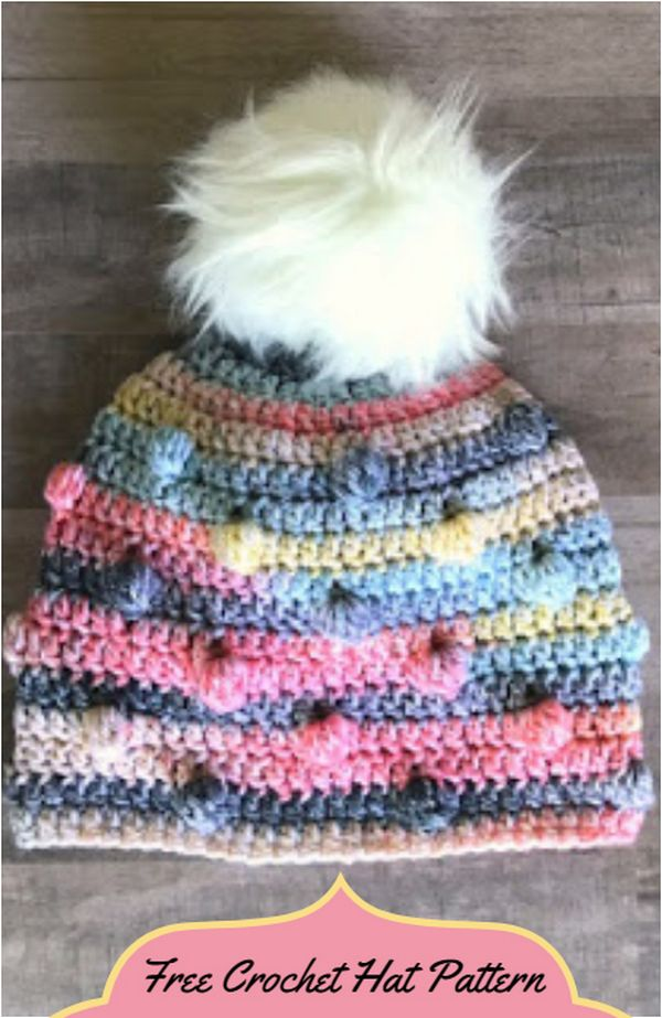 Free Crochet Hat Pattern- The Bobble Hat