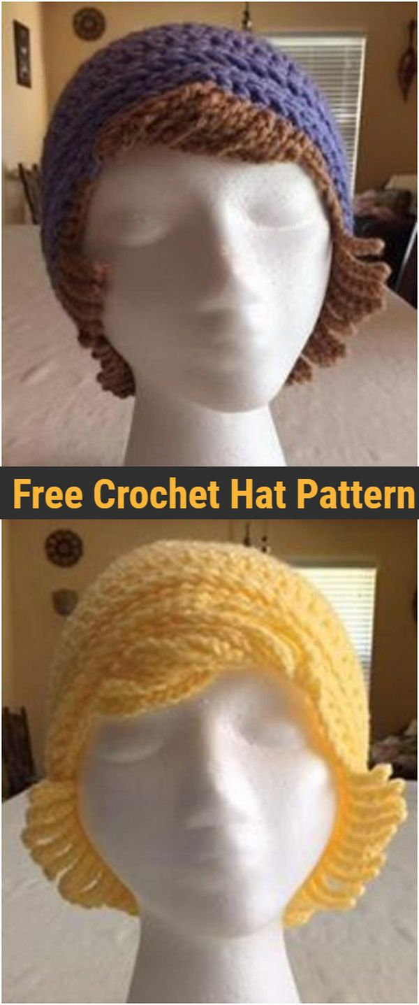 Crochet Chemo Hat With Hair Free Hat Pattern