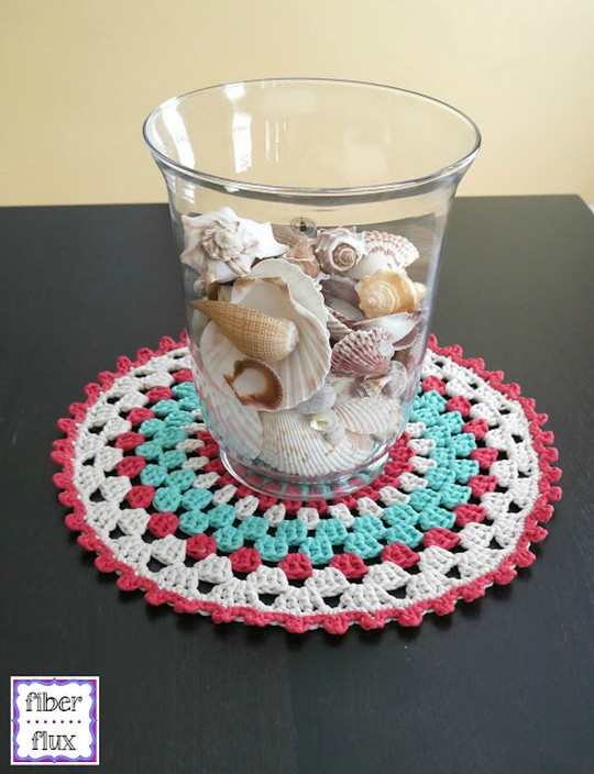 Free Crochet Pattern Coastal Placemat