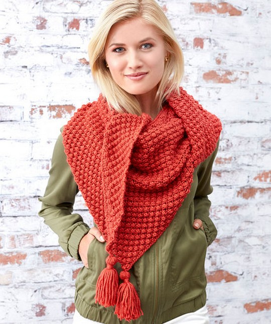 Free Crochet Pattern Fall Berries Shawl