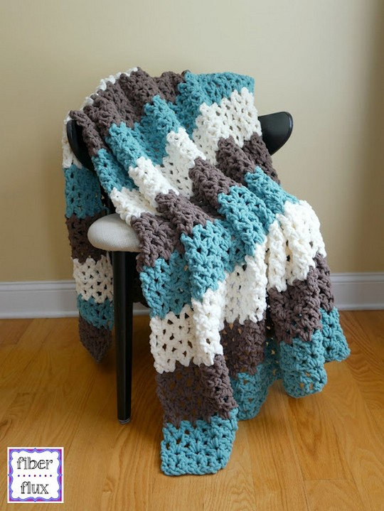 Free Crochet Pattern Family Room Throw