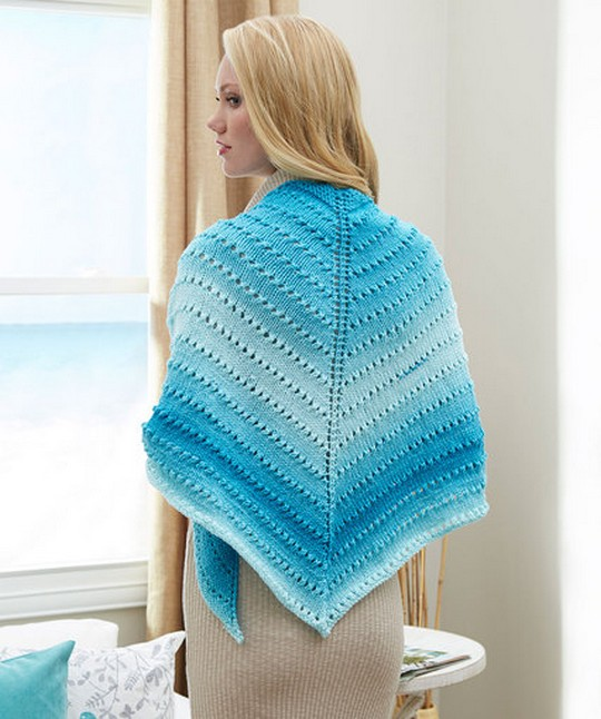 Free Crochet Pattern Simple Lace Triangle Shawl