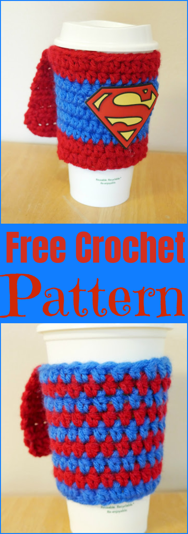 Free Crochet Pattern Supermom Superdad Coffee Cozy