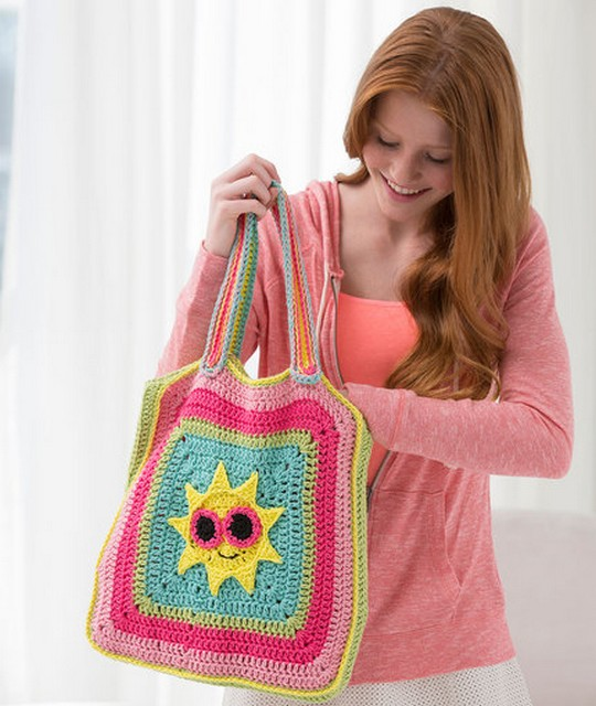 Free Crochet Sunny Day Tote Bag
