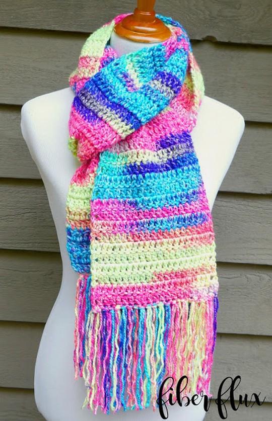Free Pattern Absolute Beginner Crochet Scarf