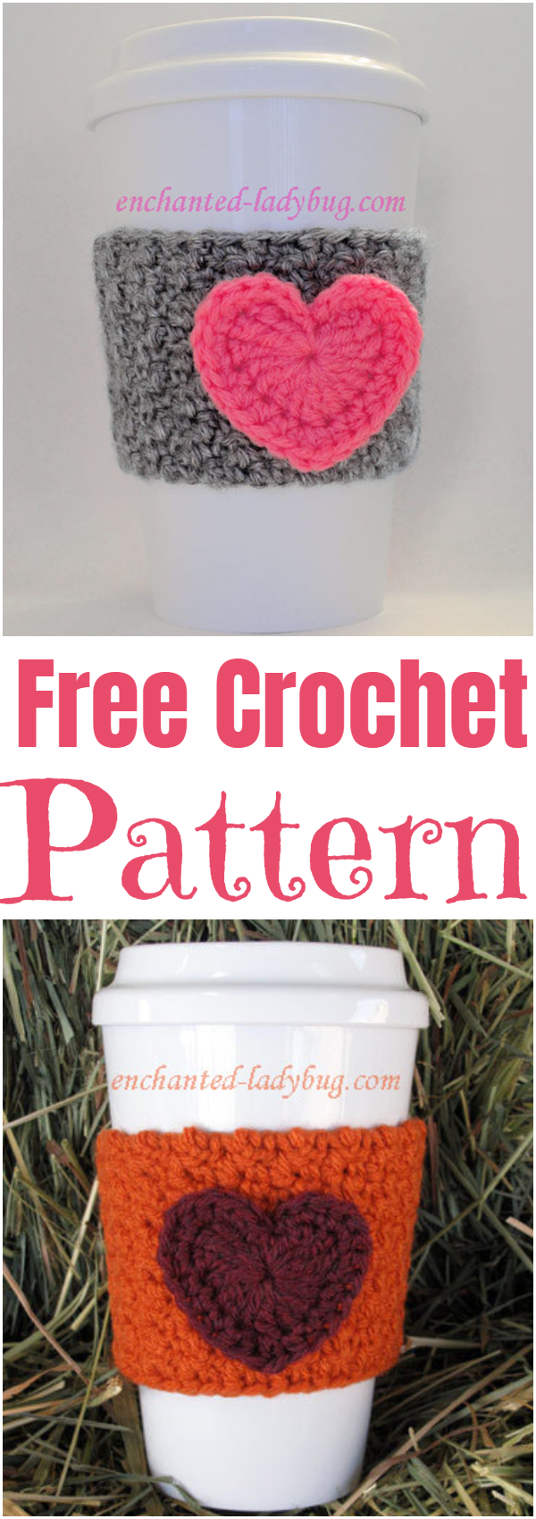 Free Patterns, Holiday PatternsFree Crochet Heart Coffee Cup Cozy Pattern A