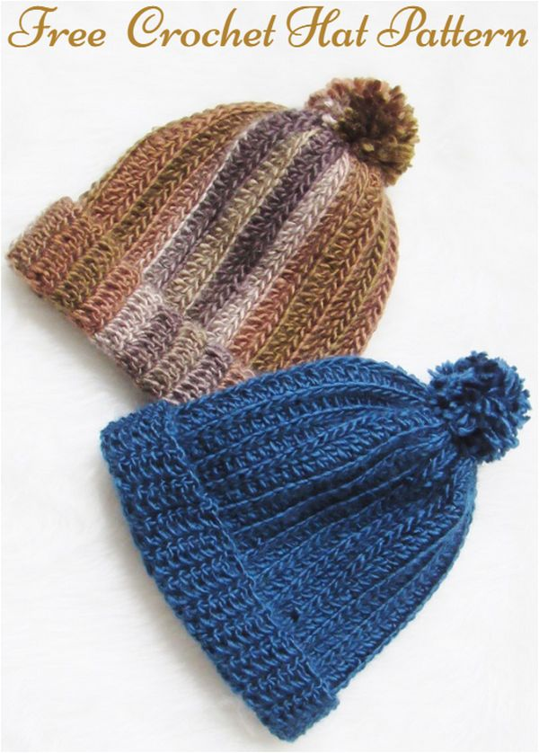 Free and Easy Crochet Hat Pattern, Harper Beanie