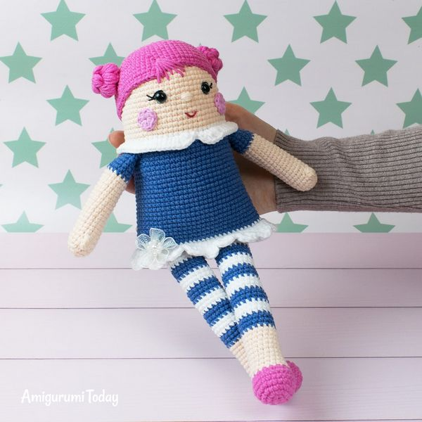 Free Crocheted Rag Doll Pattern
