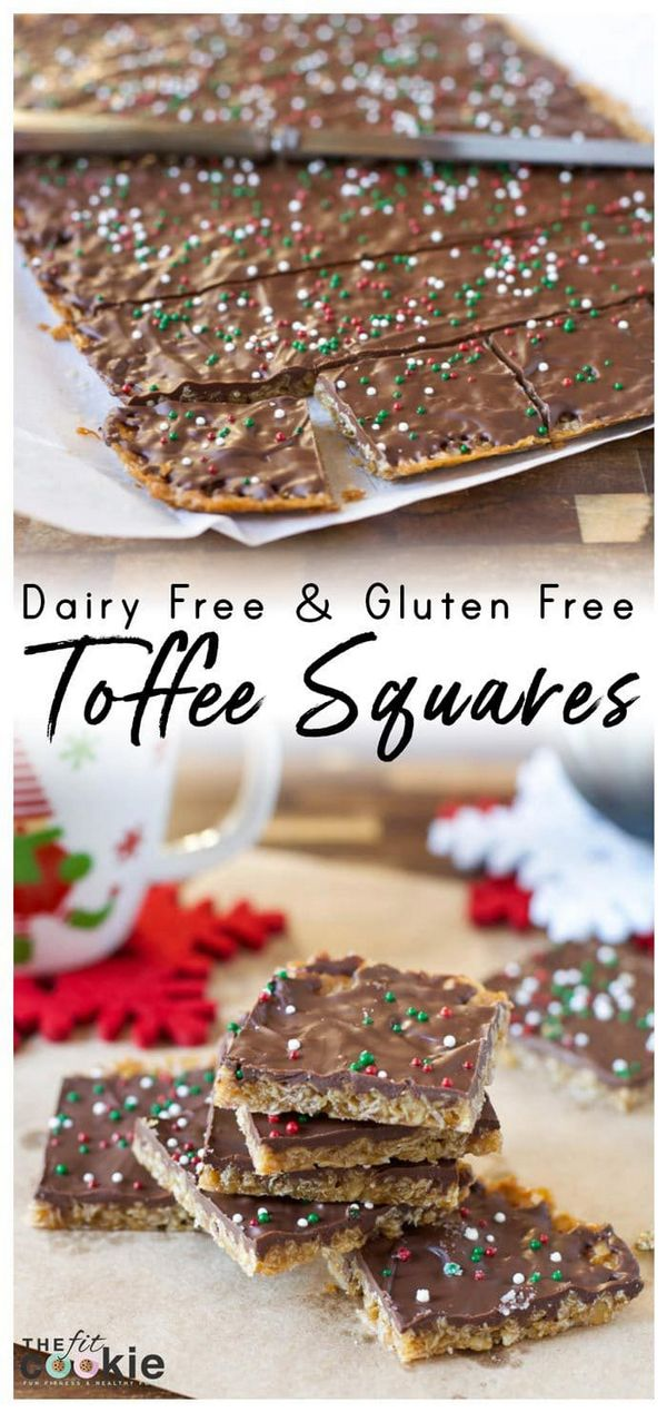 Gluten Free Holiday Toffee Squares