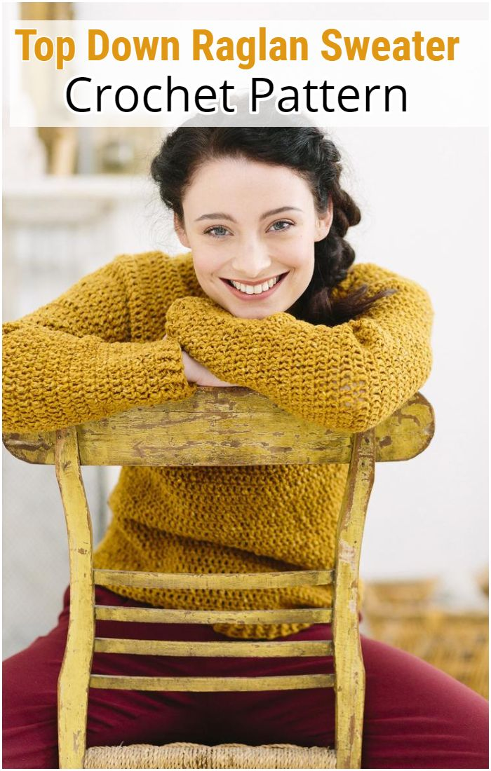 Gorse Sweater - Top Down Raglan Sweater Pattern