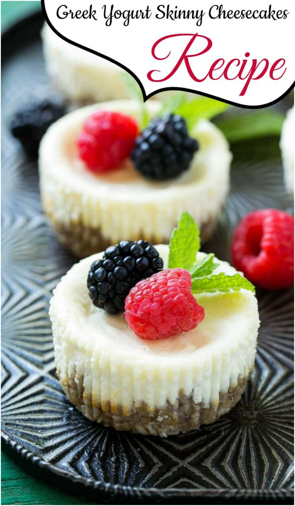 Greek Yogurt Skinny Cheesecakes