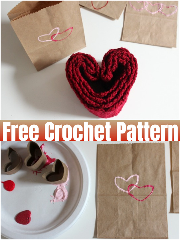 Heart Stamped Gift Bags for Valentines