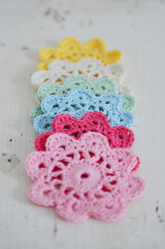How To Make Crochet Flower Coasters