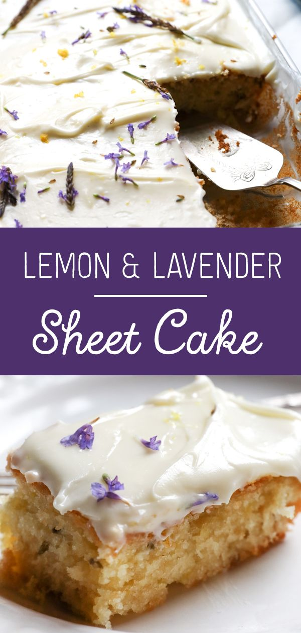Lavender & Lemon Sheet Cake