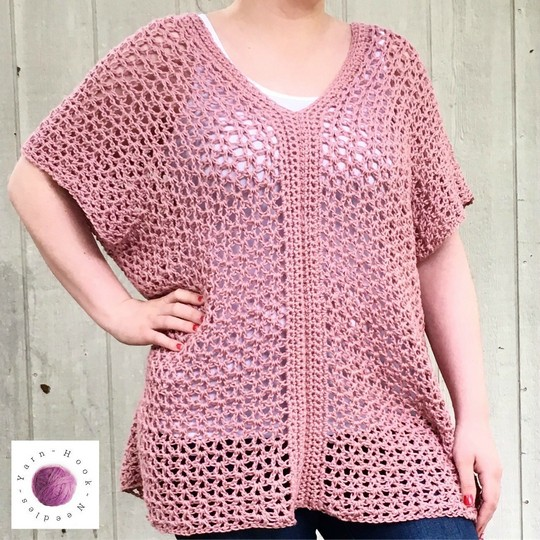 Learn To Make This Easy Cotton Crochet Top