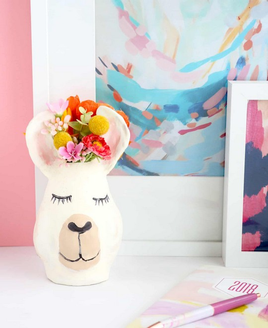 Make Your Own Llama Vase