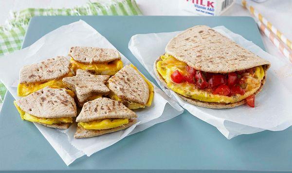 Microwave Egg & Sausage Breakfast Taco