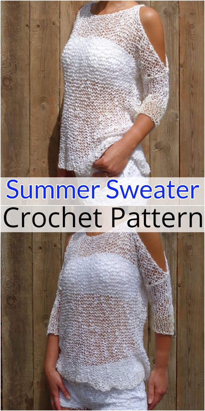Open Shoulder Summer Sweater