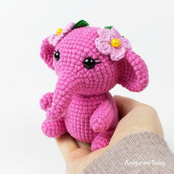 Pink Elephant Crochet Pattern