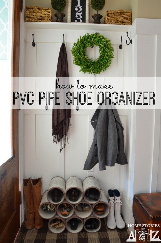 Pvc Pipe Shoe Organizer How-To
