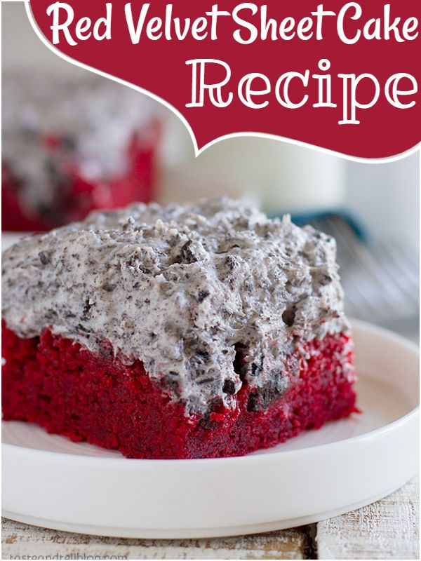 Red Velvet Sheet Cake Recipe