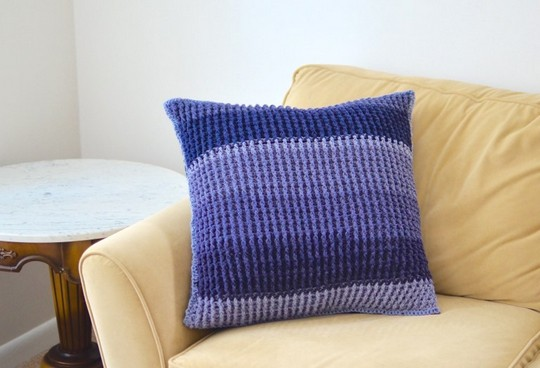 Ribbed Pillow Cover Crochet Pattern