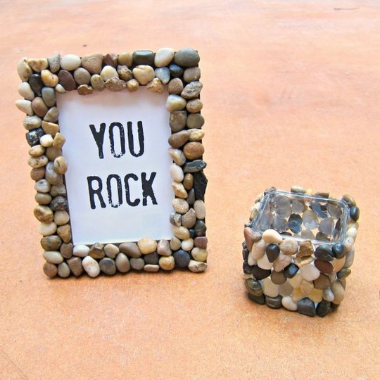 Rock Accented Home Decor