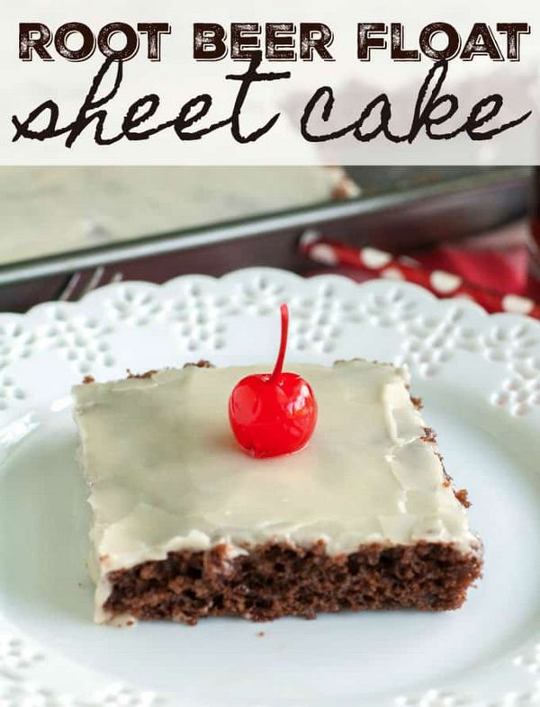 Root Beer Float Sheet Cake
