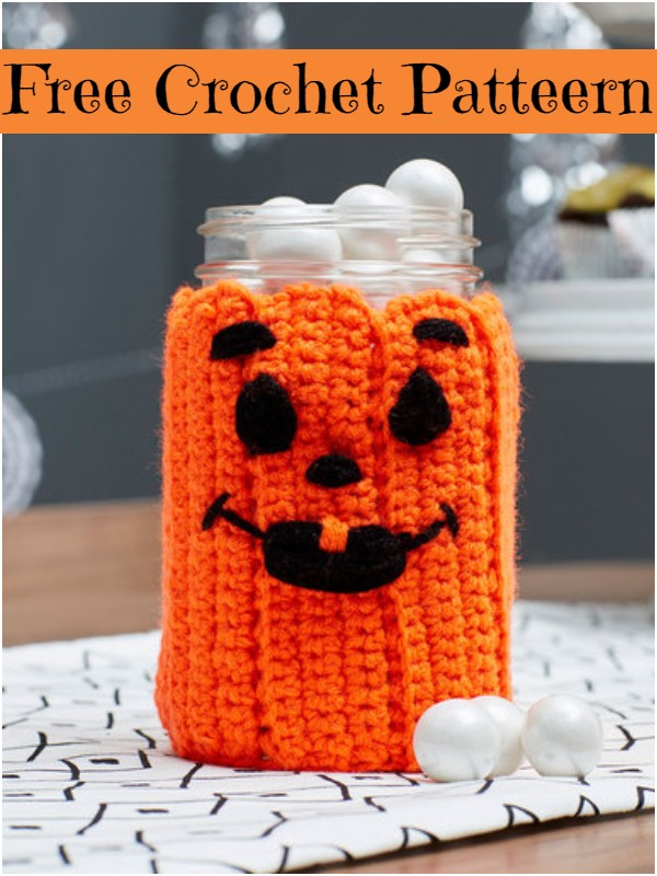 Spooky Pumpkin Jar Cozy
