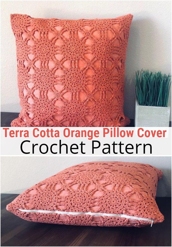 Terra Cotta Orange Pillow Cover