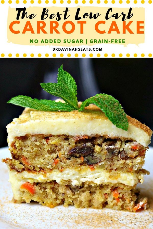 The Best Low Carb Carrot Cake
