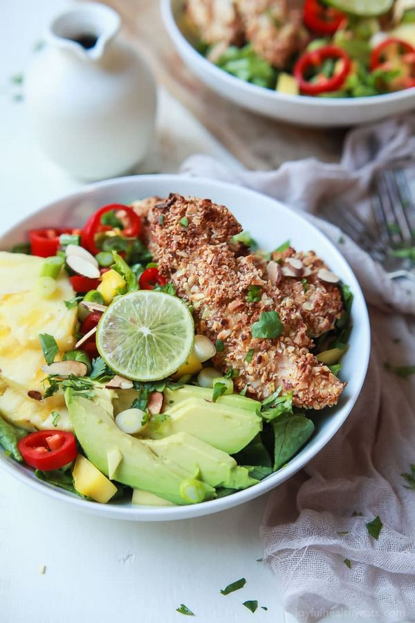 Tropical Coconut Chicken Salad with Honey Dijon Dressing