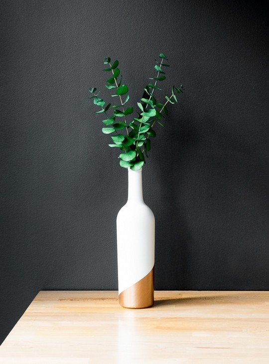Upcycled Wine Bottle Bud Vase
