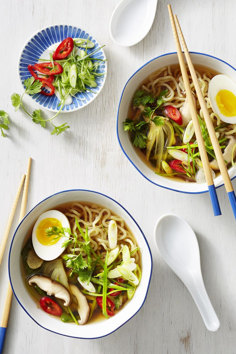 Vegetable Ramen with Mushrooms and Bok Choy