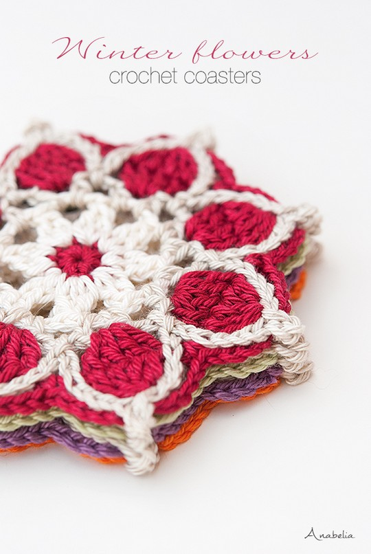 Winter Flowers Coasters