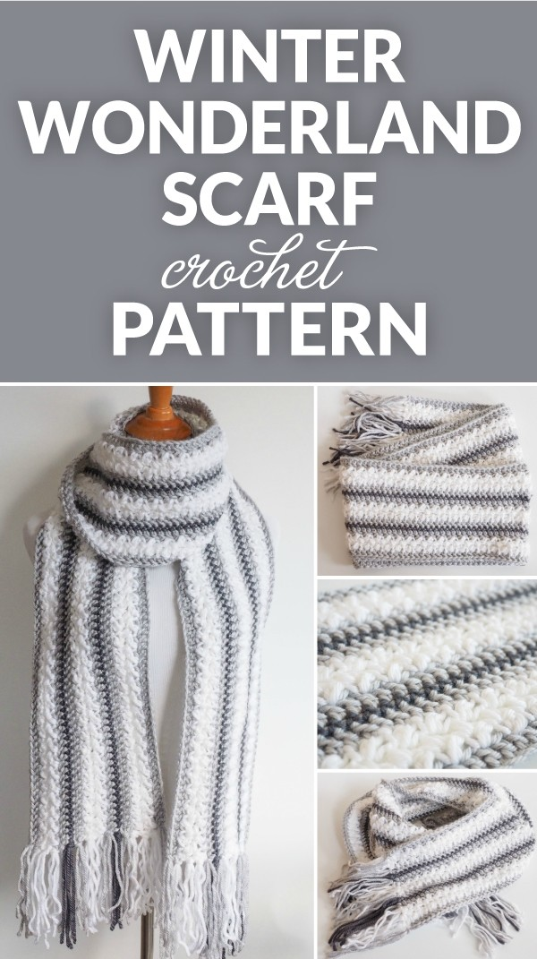 Winter Wonderland Crochet Scarf Pattern