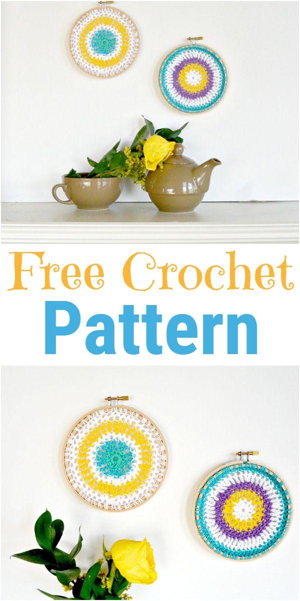 crochet mandala hoops