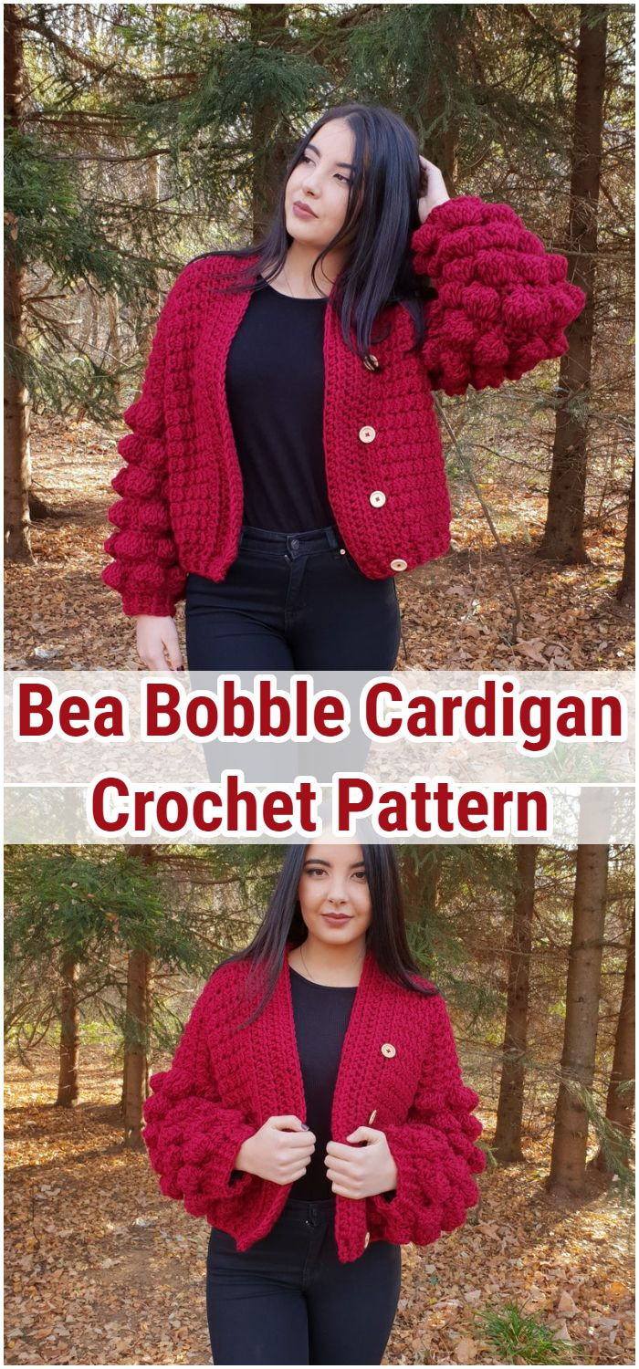 Bea Bobble Cardigan Crochet Pattern