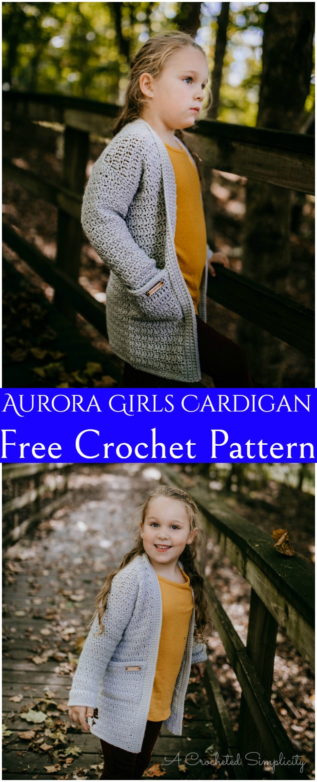 Crochet Aurora Girls Cardigan Pattern