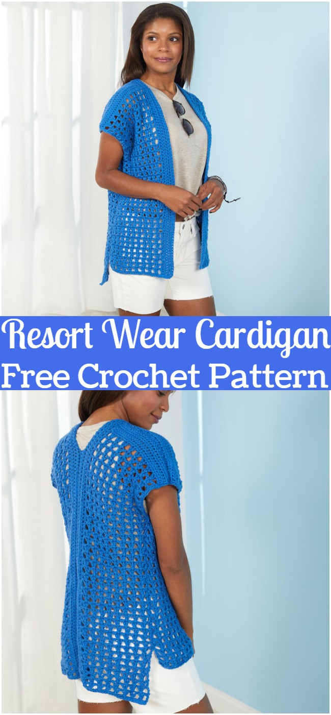 Crochet Resort Wear Cardigan Pattern