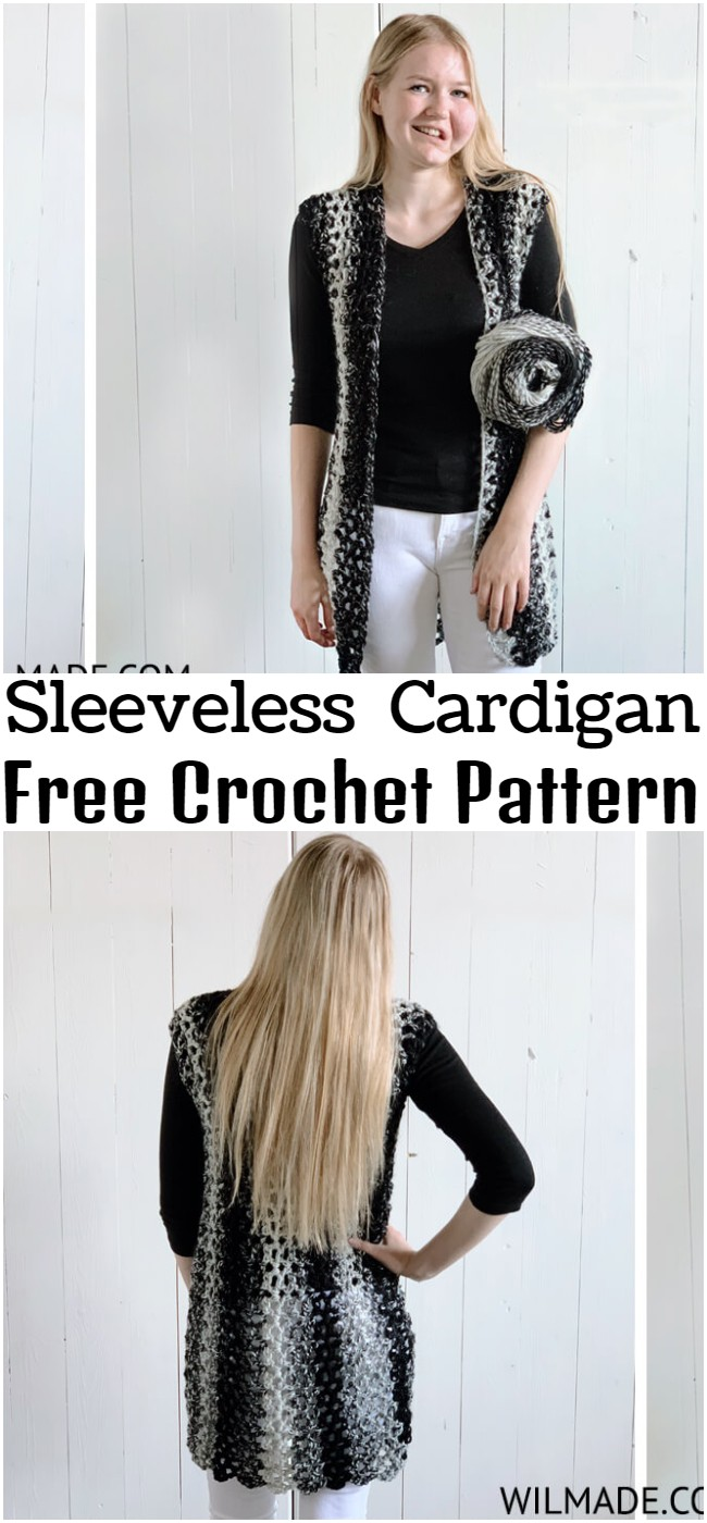 Crochet Sleeveless Cardigan Pattern