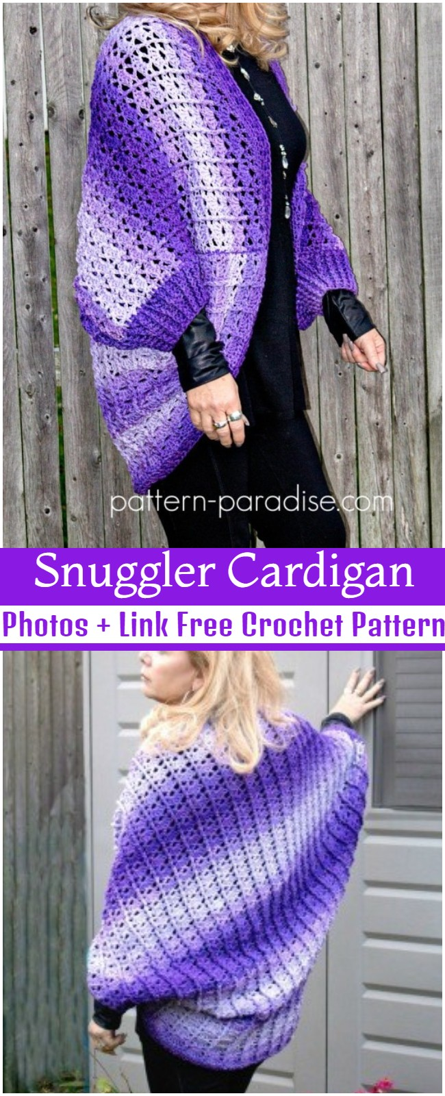 Crochet Snuggler Cardigan Pattern