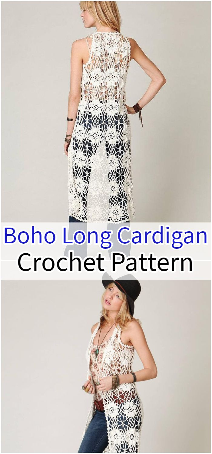 Crochet long cardigan PATTERN