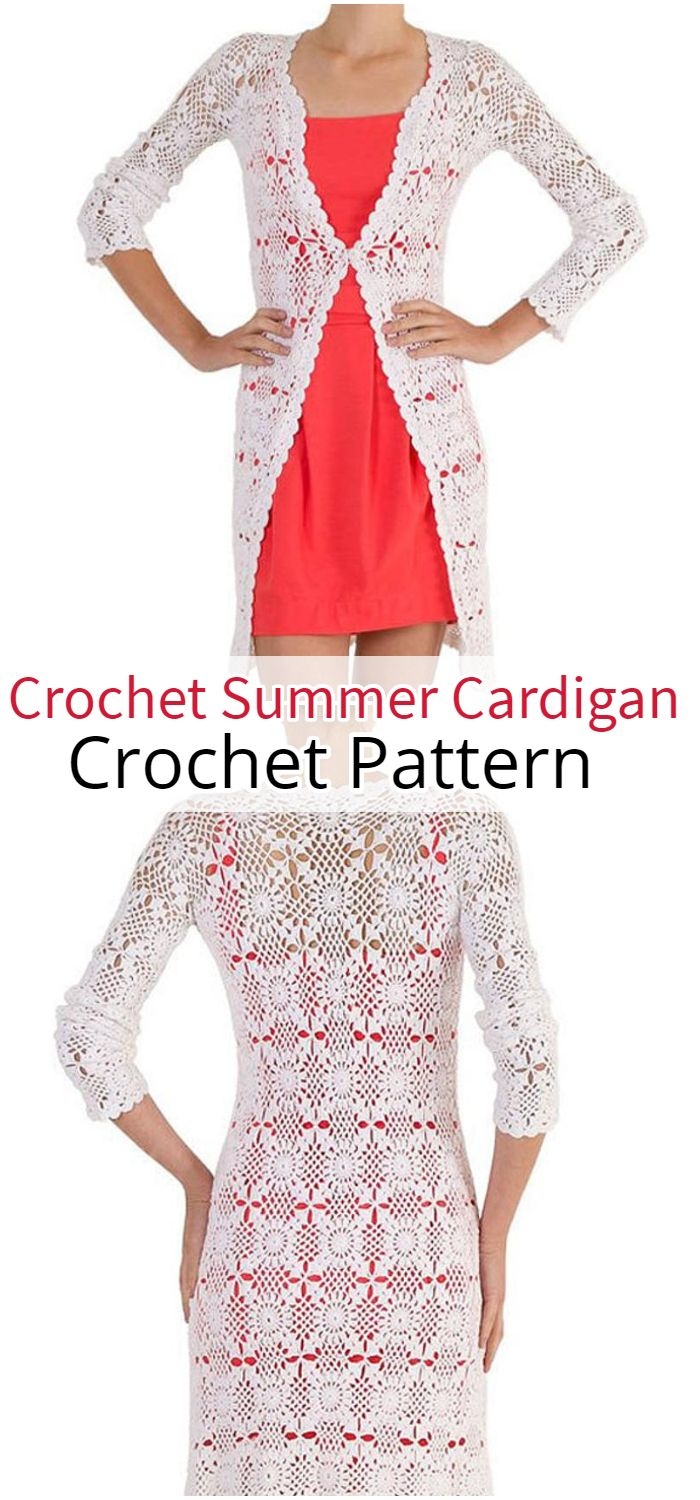 Crochet summer cardigan PATTERN