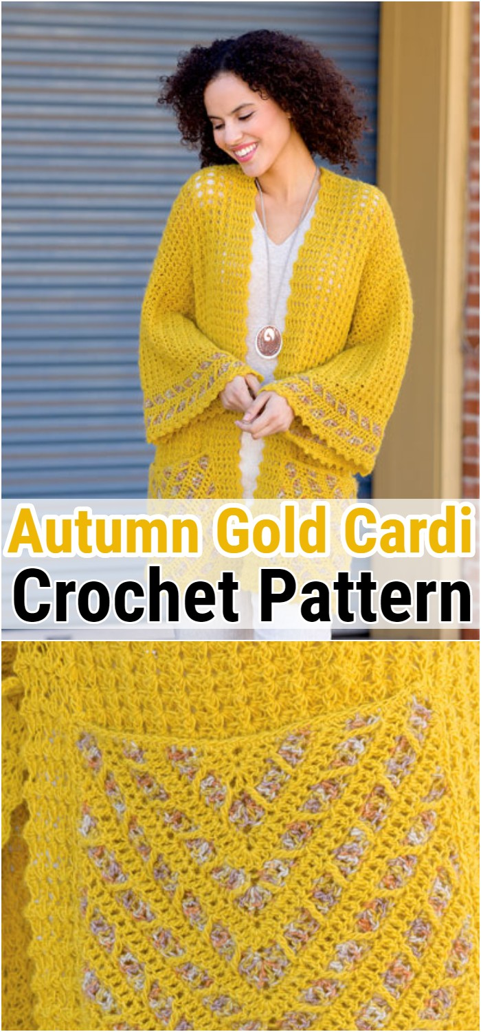Date Night Autumn Gold Cardi