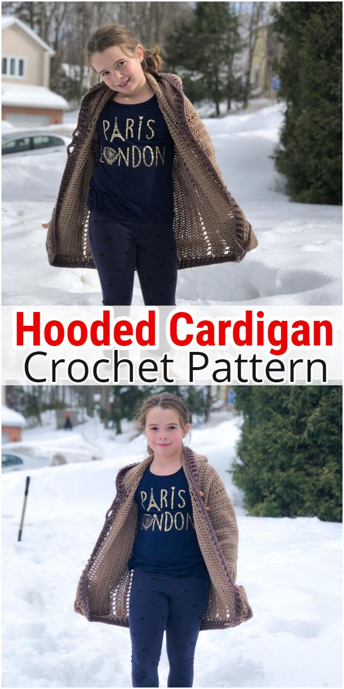 Hooded Cardigan Crochet Pattern