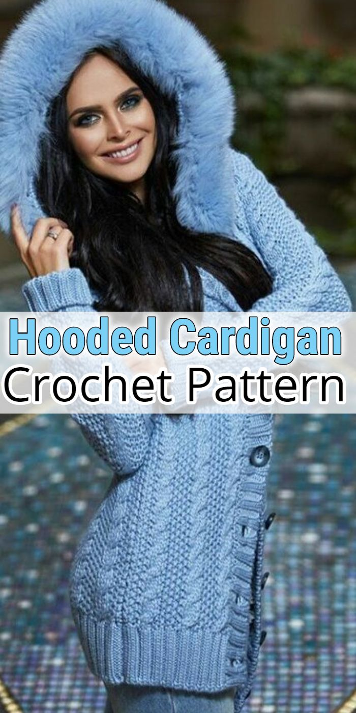 Hooded Crochet Cardigan Patterns