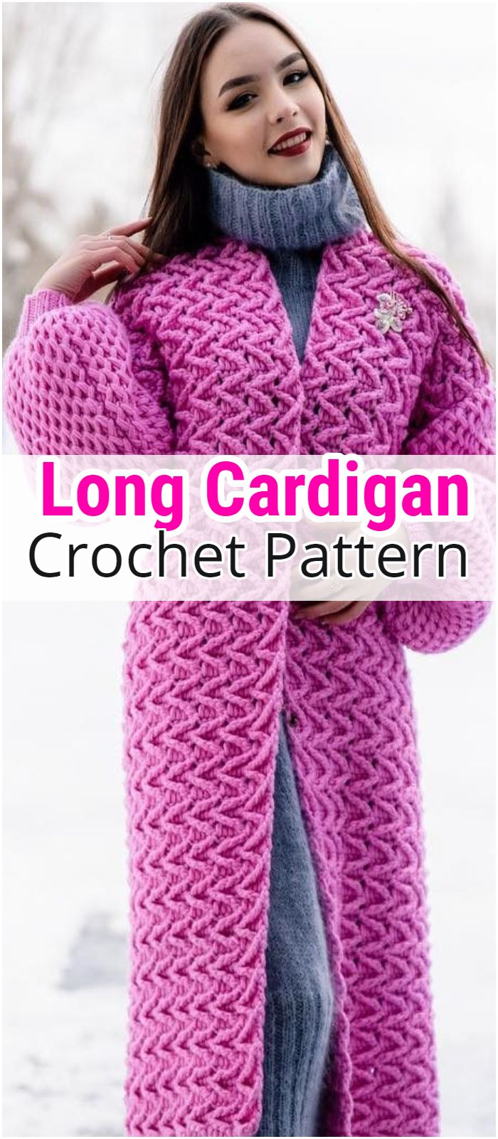 Long Cardigan Crochet Pattern