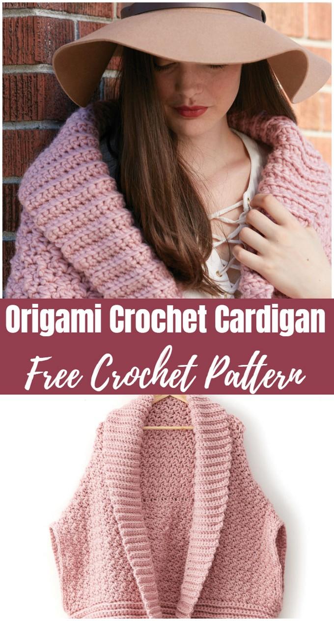 Origami Crochet Cardigan