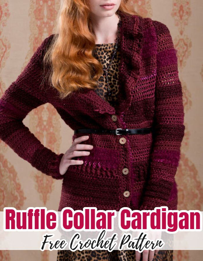 Ruffle Collar Cardigan